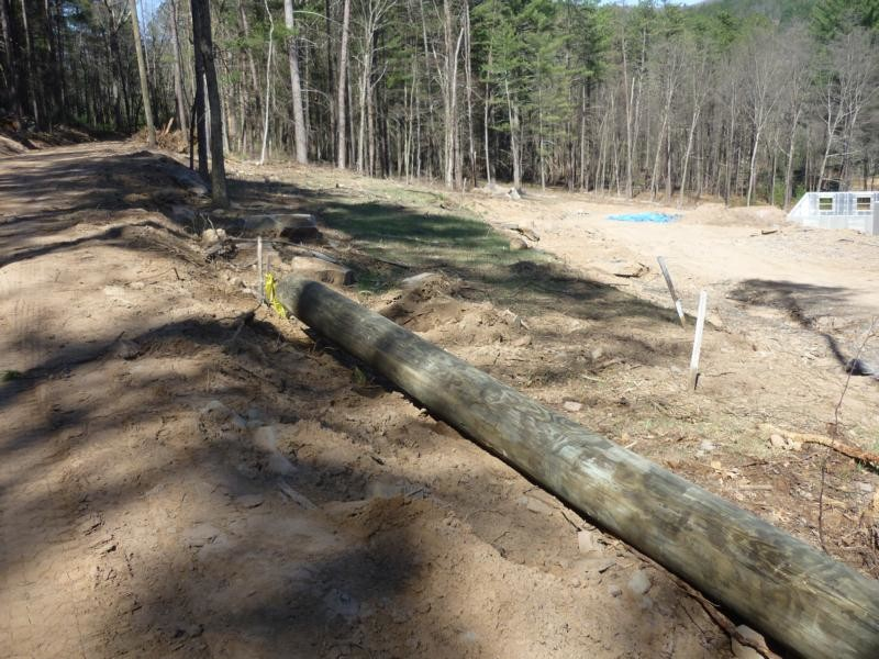 power poles are planted