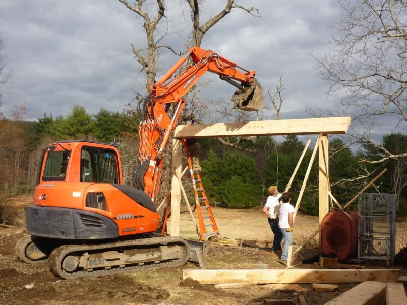 buiding the woodmizer shed