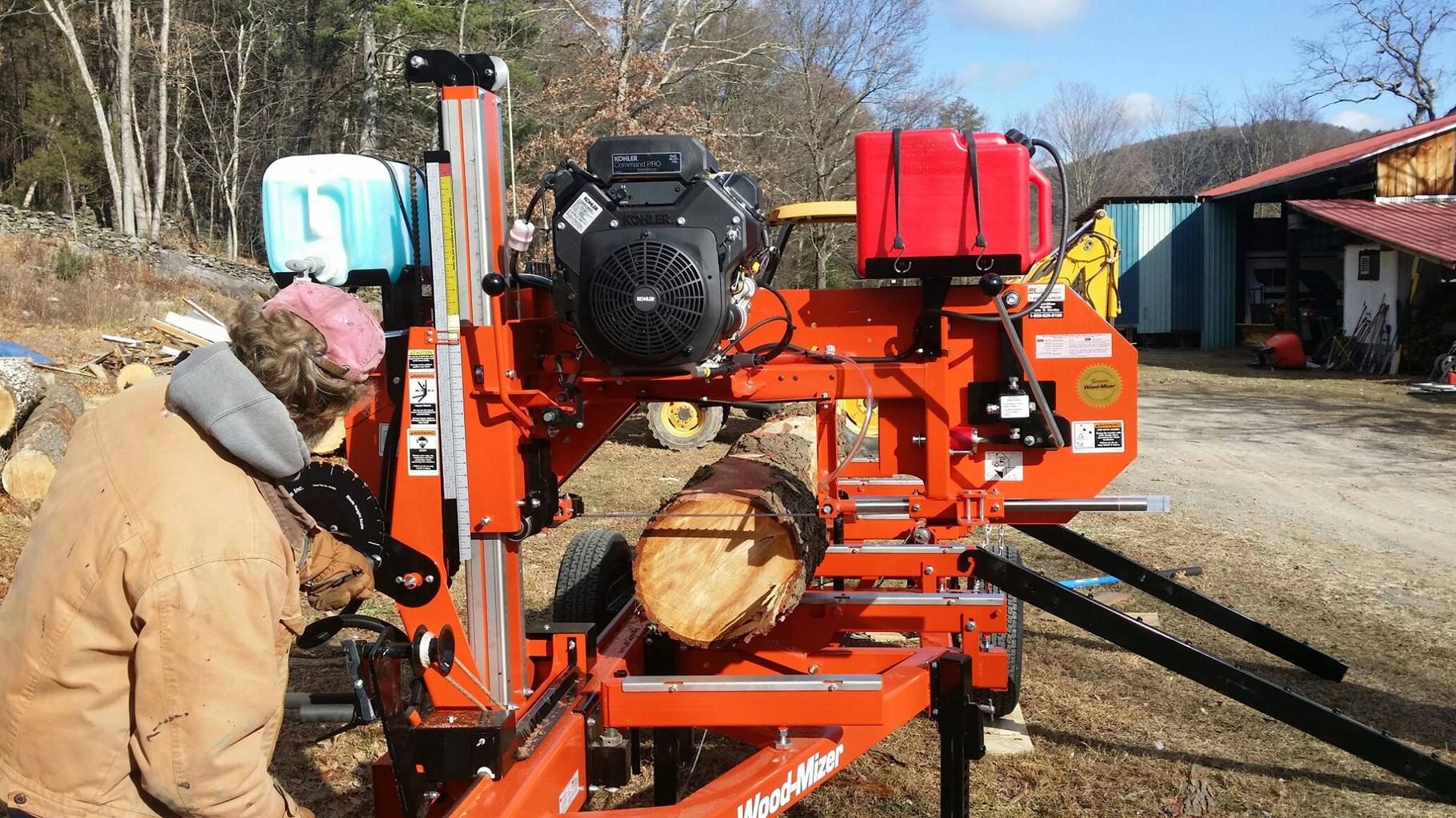 Bluestone's new Sawmill, the Woodmizer