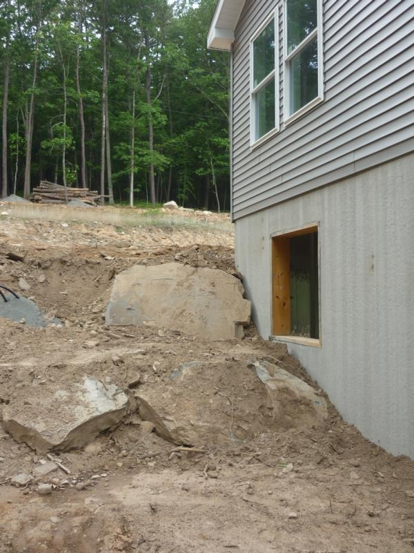 backfill and landscaping