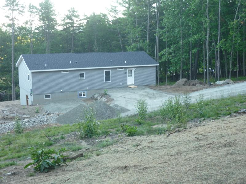 finishing and grading of the driveways