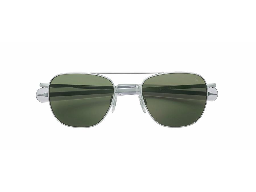 Original Pilot® col. MATTE SILVER / GREEN(GLASS)