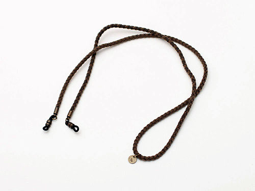 Braid Artificial Leather Glasses Cord ECD-043 ¥2,300+tax