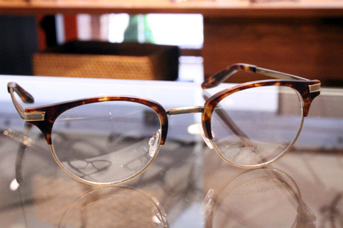 BARTON PERREIRA CLARENDON(バートンペレイラ クラレンドン) col.MCH/ANG(ANTIQUE GOLD - MATTE CHESTNUT) 47□21-145 ¥47,000+tax