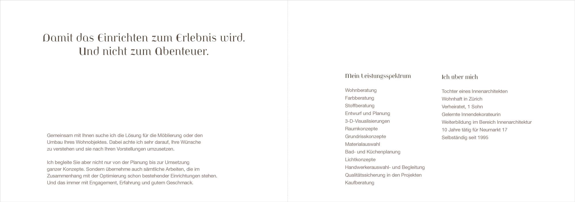 Innenarchitektur Weiterbildung broschüre innenarchitektur raumgestaltung