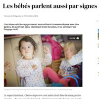 Avril 2016 - les bébés parlent aussi par signes