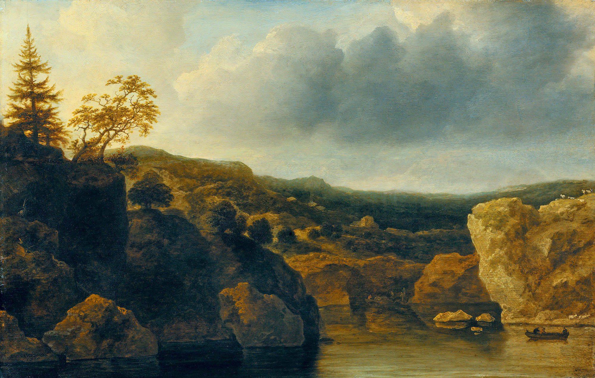 Берега с крутыми скалами