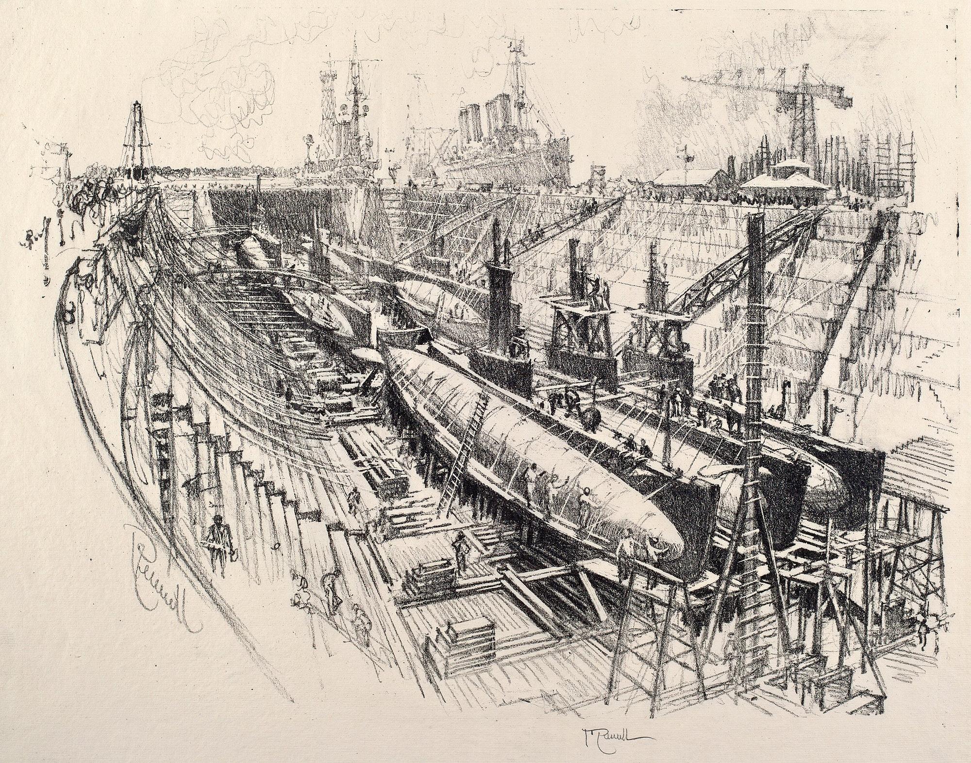 Подводные лодки в сухом доке