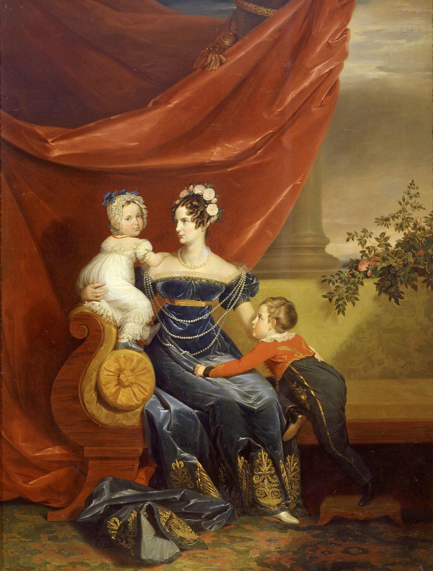 Портрет великой княгини Александры Фёдоровны с детьми