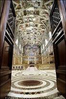 divertiti a gironzolare dappertutto nella Cappella Sistina