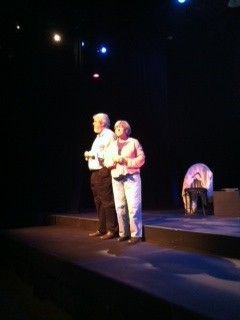 Ron Dukenski (as Donald) and Jandi Hanna (Roberta) in rehearsal