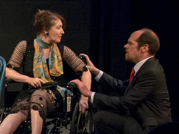 Rachel Marcus and Jonathan Dauermann in Gallery Players' production of A REMARKABLE MAN. (Photo by Kim T. Sharp)