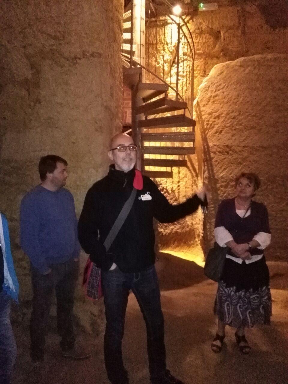 Herr Pfistermeister erklärte in 90 Minuten die Entstehung des Kellerlabyrinths