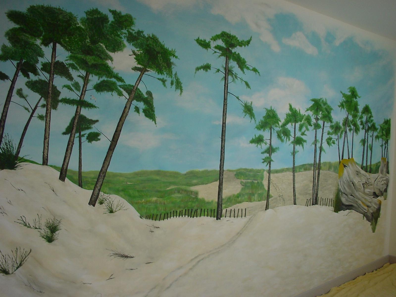 fresque peinte directement sur le mur 5m x 2.50m