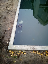 Skimmer, Schwimmskimmer aufsetzen und einstellen, sauber Wasseroberfläche für Koiteich