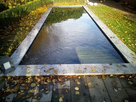 Gartenteich Schwimmteich für Hund mit Stufen in der Grafschaft Bentheim