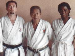 Avec Soke Yamazaki, mai 2001, Paris