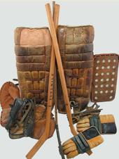 Goalieausrüstung früher