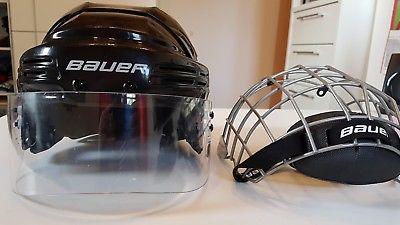 Eishockeyhelm, Helm mit Visier, Helm mit Gitter