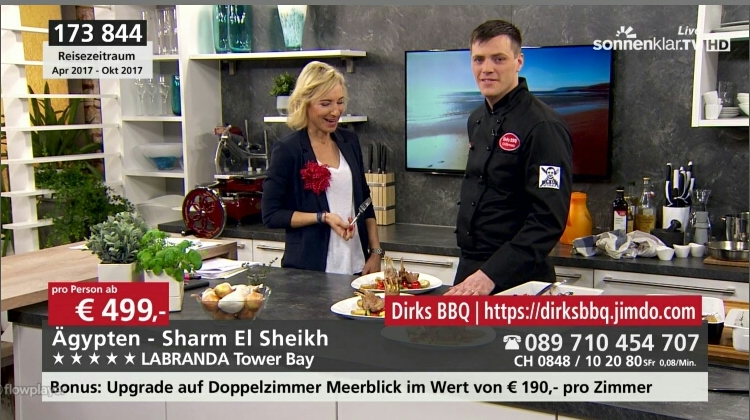 Live am 19.02.2017 im Studio des Senders Sonnenklar TV in München