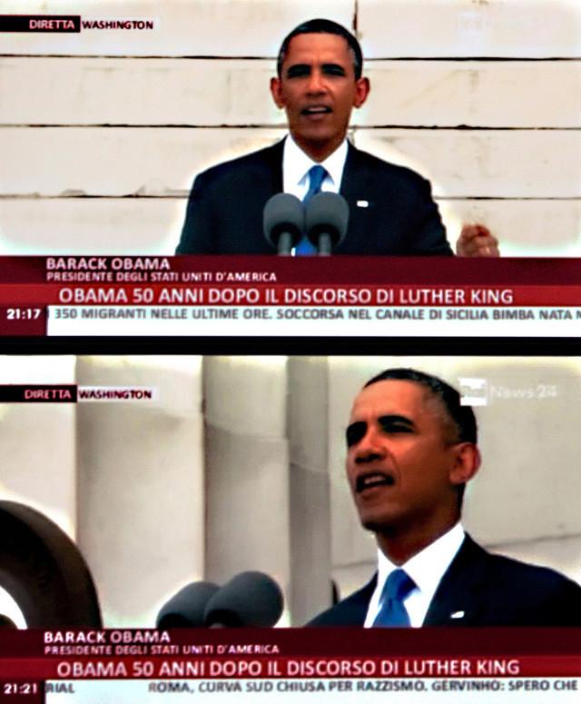 Obama 50 anni dopo il discorso di Martin Luther King.