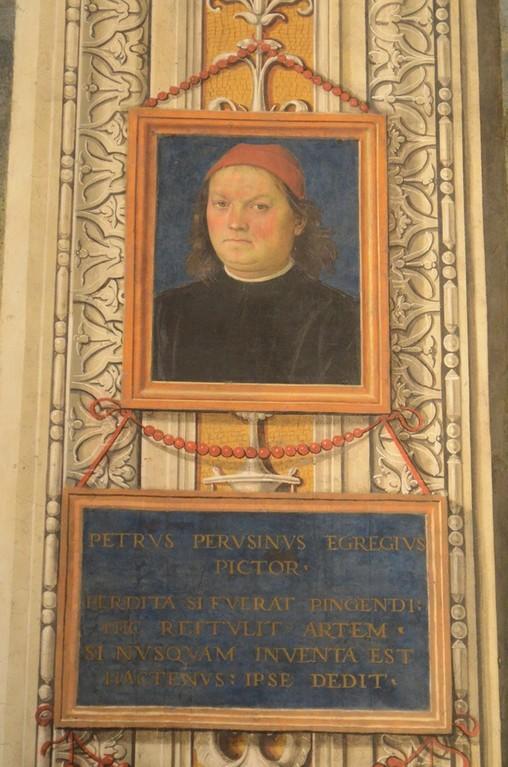 Perugia, Collegio del Cambio, Selbstbildnis Perugino