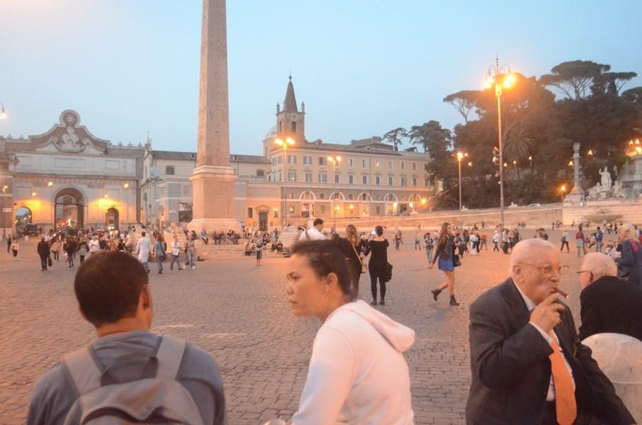 Piazza del Popolo am frühen Abend