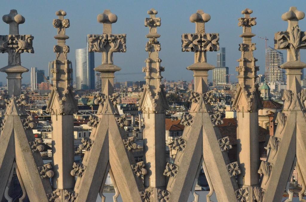 Dom zu Mailand, Blick vom Dach nach Norden