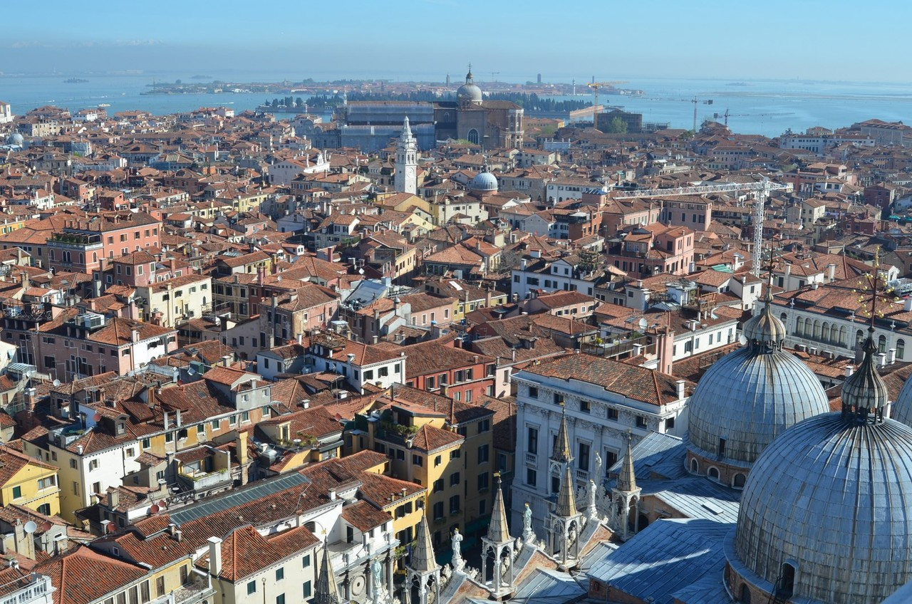 Blick vom Campanile di San Marco bis nach Murano