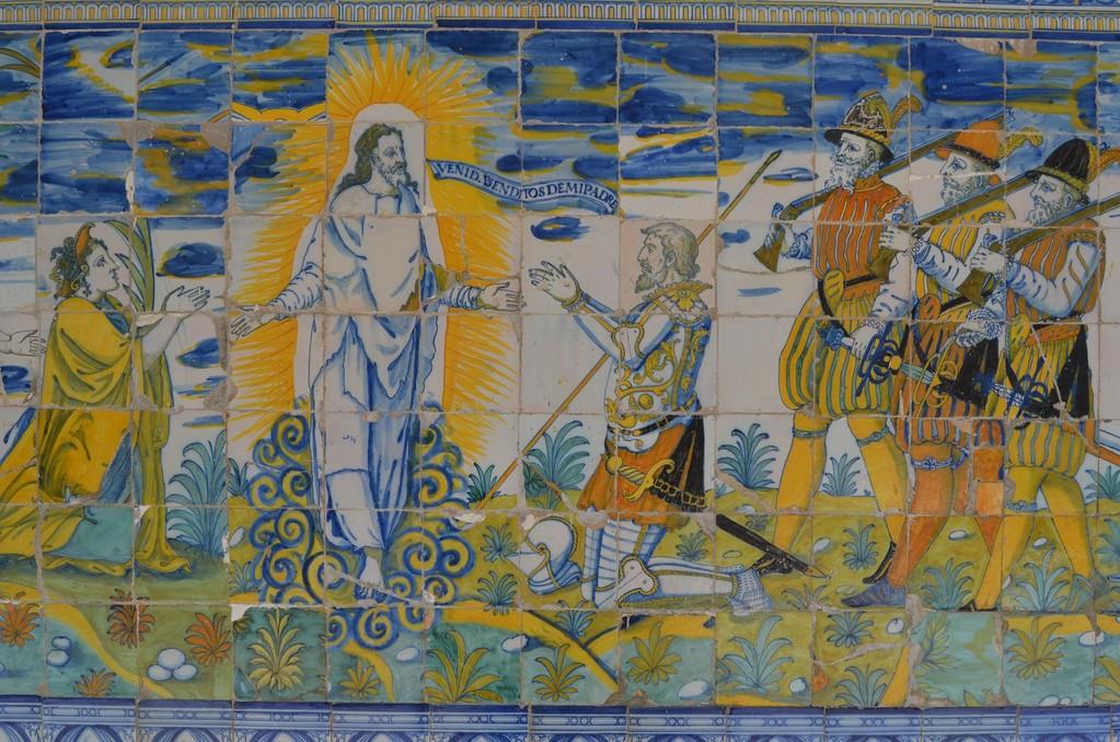 Talavera de la Reina, Basílica de Nuestra Señora del Prado mit Darstellung der Segnung von Konquistadoren (17. Jh.)
