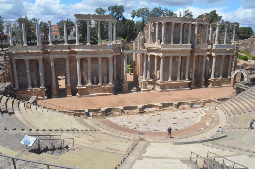 Mérida, Römisches Theater (gestiftet 16-15 v.Chr. von Marcus Vipsanius Agrippa)