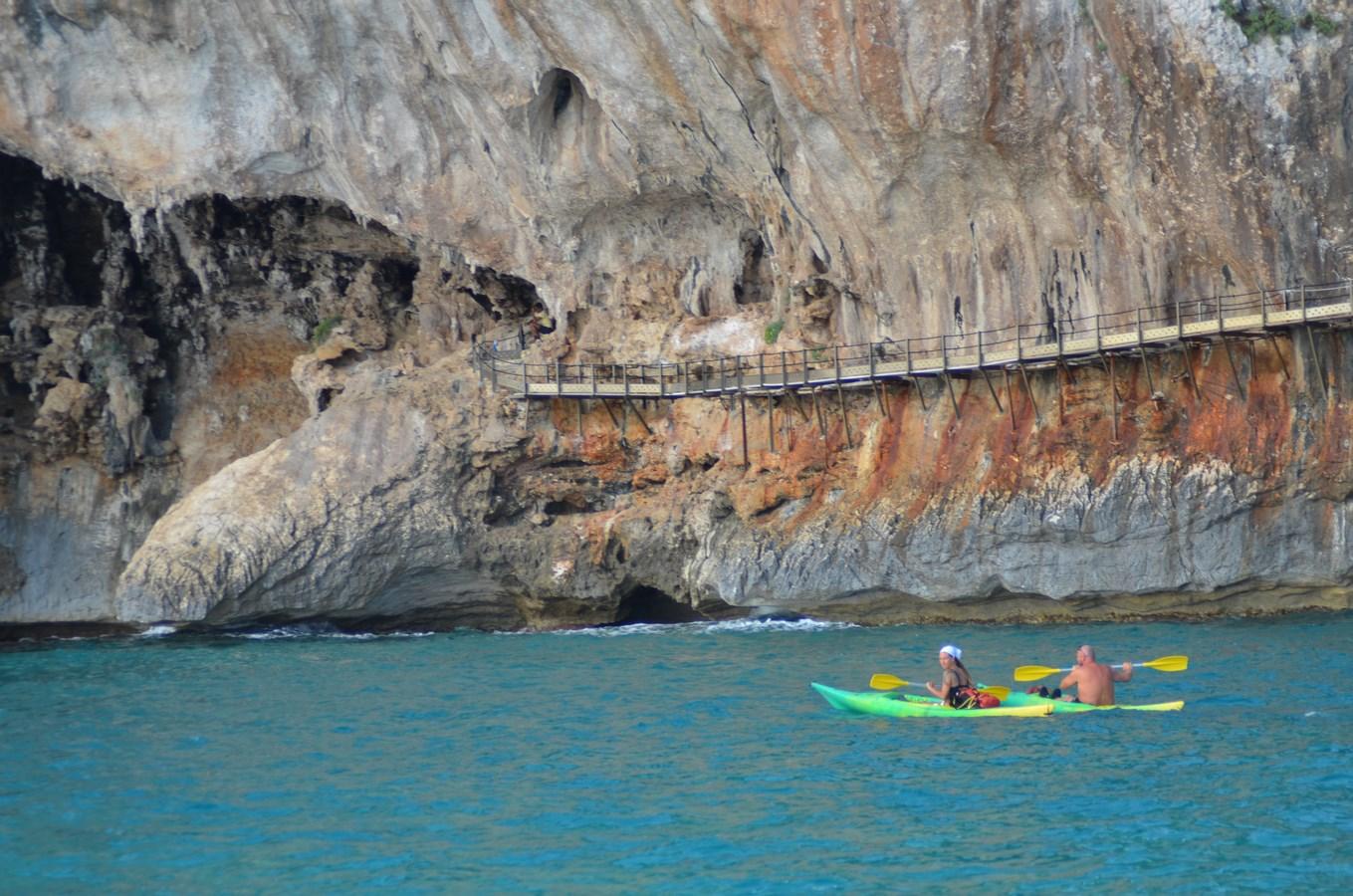 Zugang zur Grotte Bue Marino bei Orosei