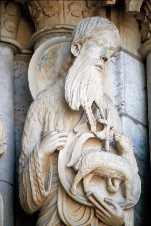 Kathredrale von Chartres, Nordfassade, Johannes der Täufer