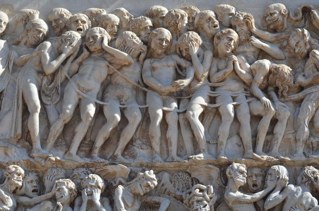 Orvieto, Dom, Westfassade, Jüngstes Gericht