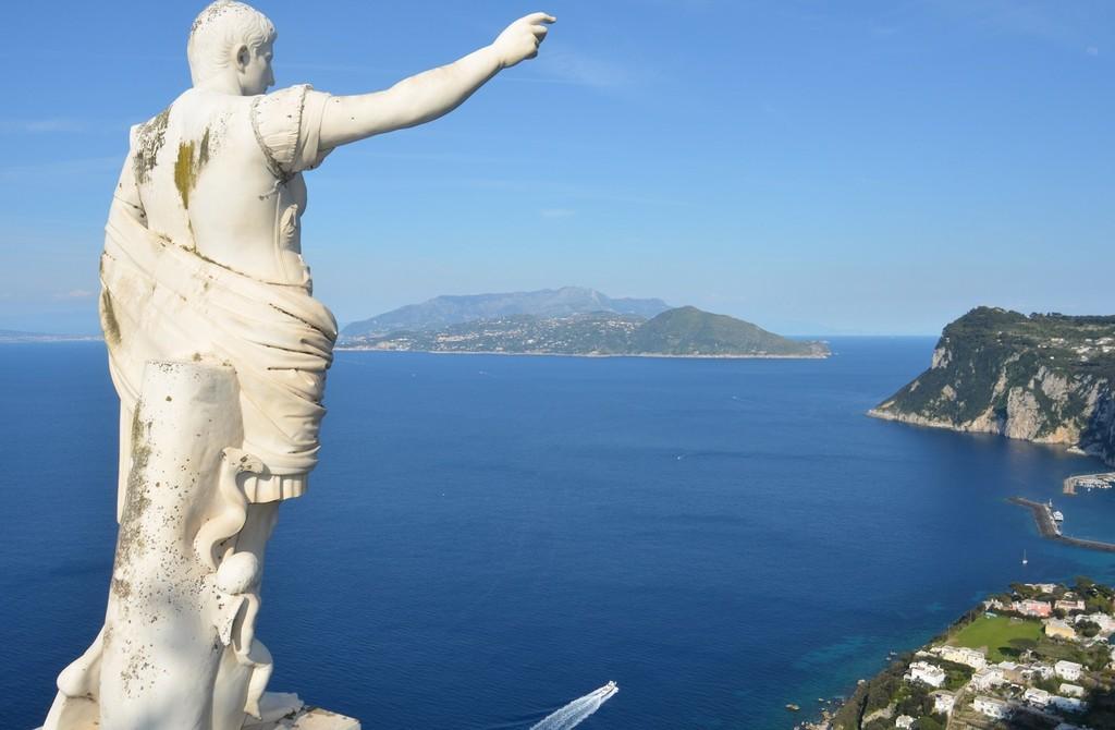 Anacapri, Blick auf Golf von Neapel