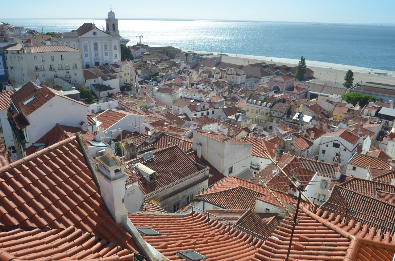 Lissabon, Aussichtspunkt (Miradouro) Santa Lucia