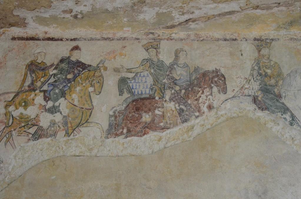 Die englische Königsfamilie (Fresko, Chinon, Kapelle Sainte-Radegonde)