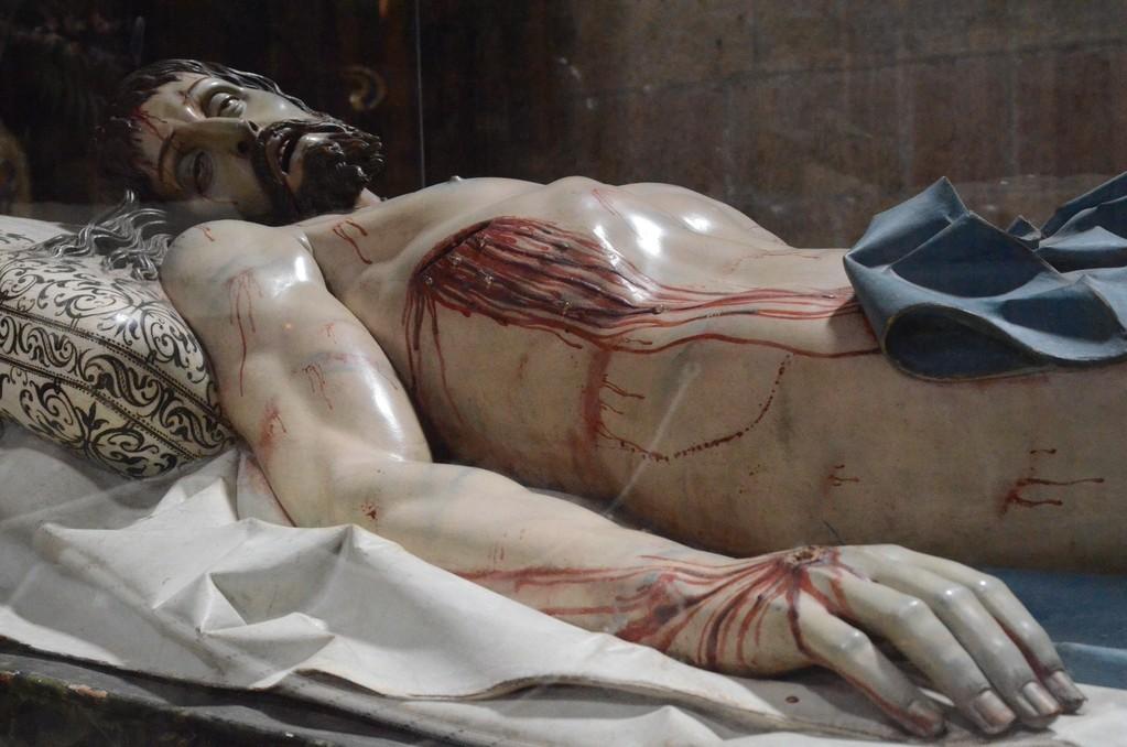 Gregorio Fernández (1576-1636), Liegender Christus (Segovia, Capilla del Descendimiento)