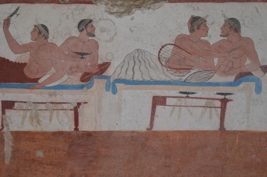 Paestum, Archäologisches Museum, sogenanntes 'Grab des Tauchers', Detail