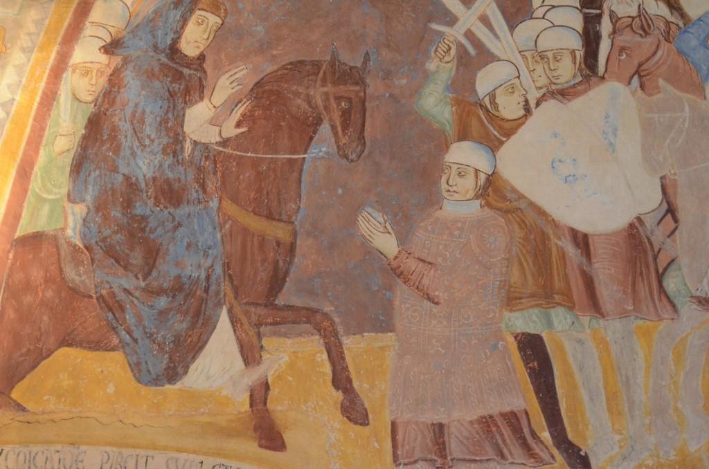 Rocca d'Angera, Fresko: Einzug des Erbischofs Otto Visconti nach Mailand