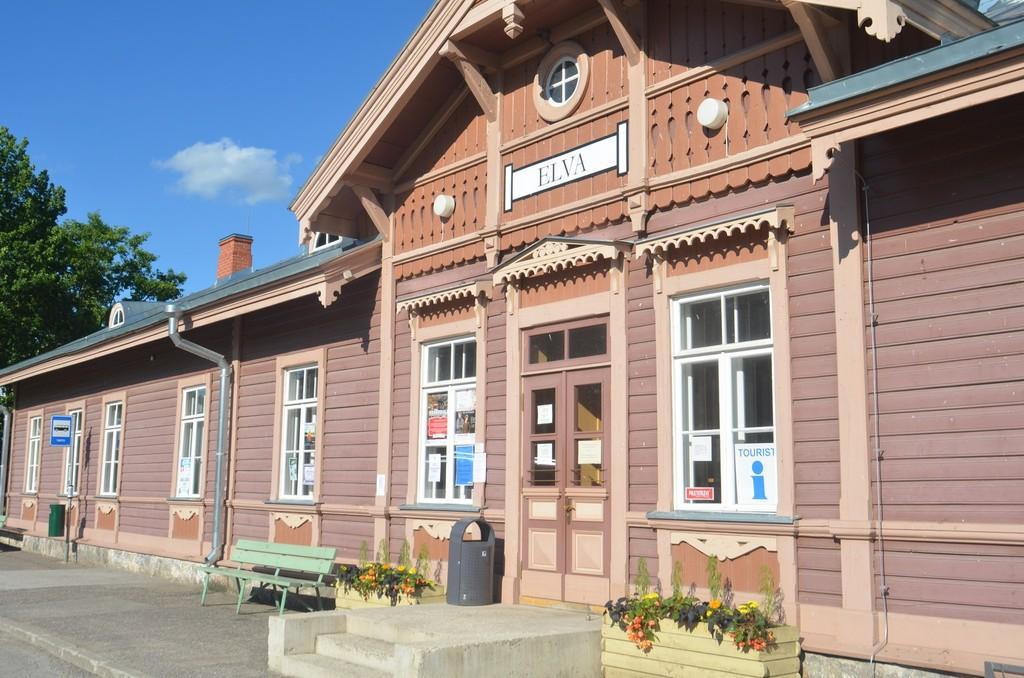 Elva, Bahnhof der späten Zarenzeit (1889) [Bilder 22-37: Estland]
