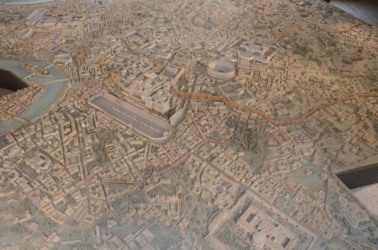 Rom im 4. Jh. n. Chr. (Museo della Civiltà Romana)