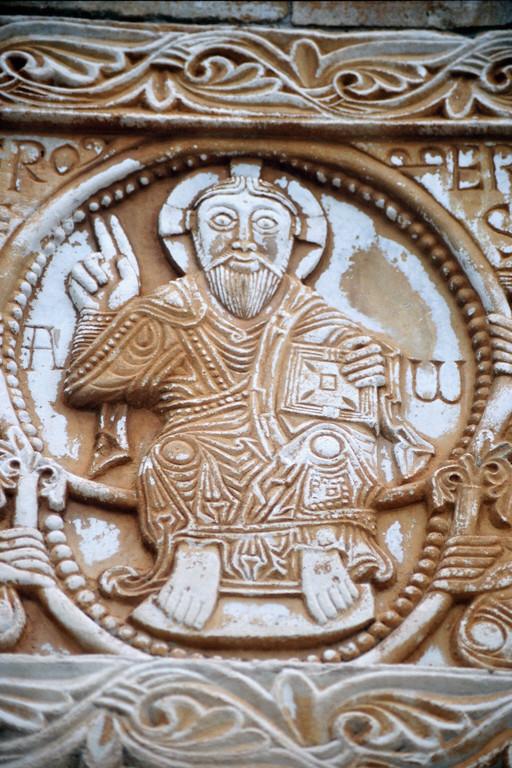 Saint-Génis-des-Fontaines, Türsturz, Christus