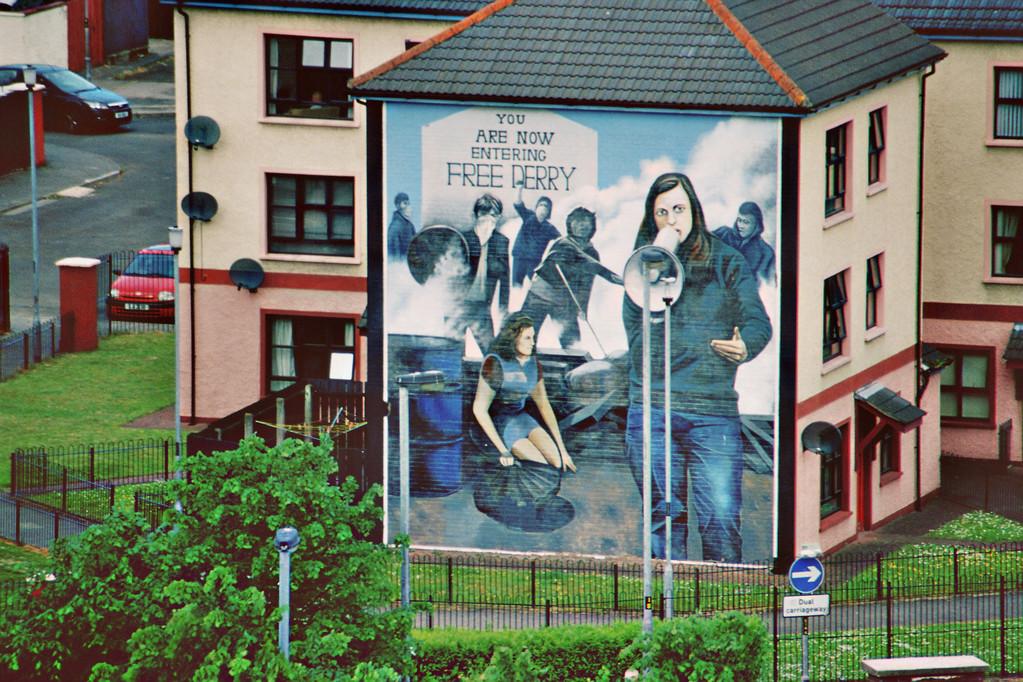 (London-)Derry, Mural (Bernadette Devlin)