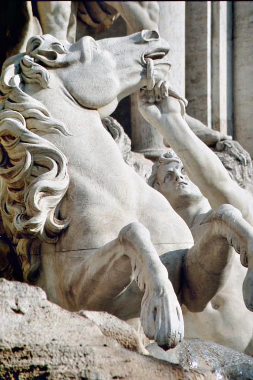 Trevibrunnen, Detail