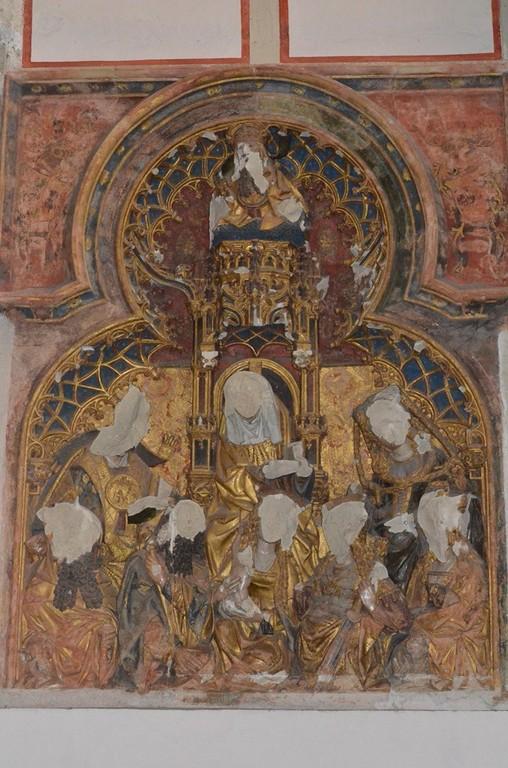 Dom zu Utrecht, Kapelle des Bischofs Jan van Arkel mit Spuren des Bildersturms von 1580