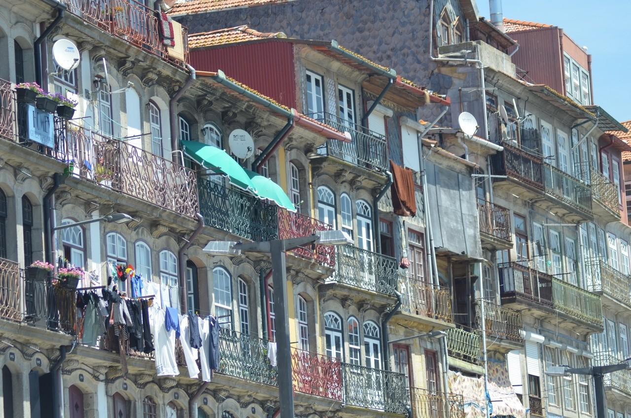 Porto, Häuserfront am Douro