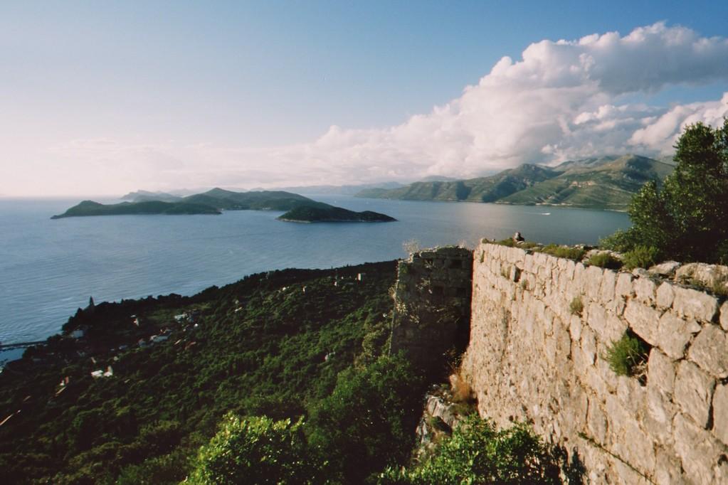 Lopud, Blick von den Ruinen der spanischen Festung