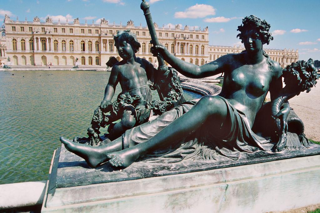 Versailles, Blick auf Gartenseite des Schlosses