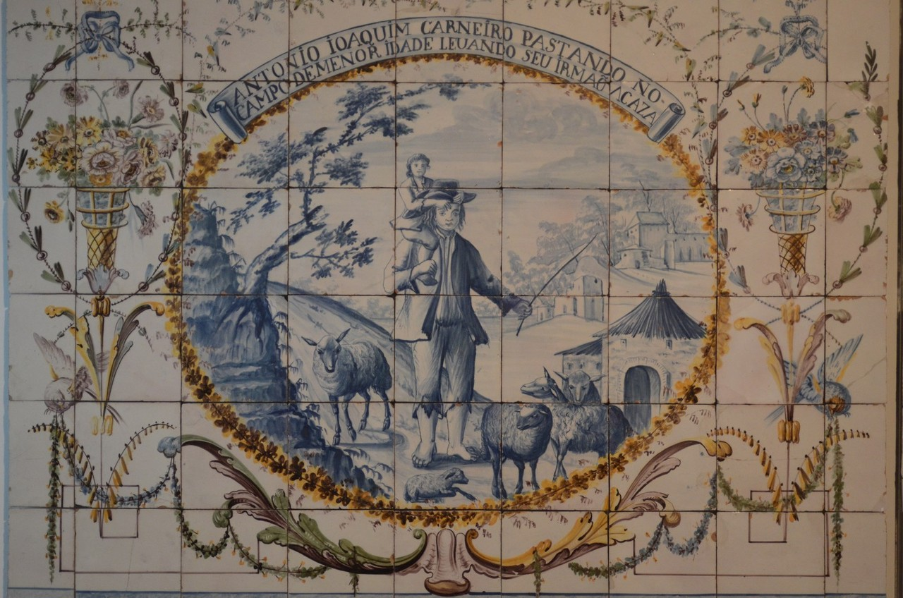 Der Aufstieg des Hutmachers Antonio Joaquim Carneiro vom Schaf- ... (Lissabon, Museu Nacional do Azulejo)
